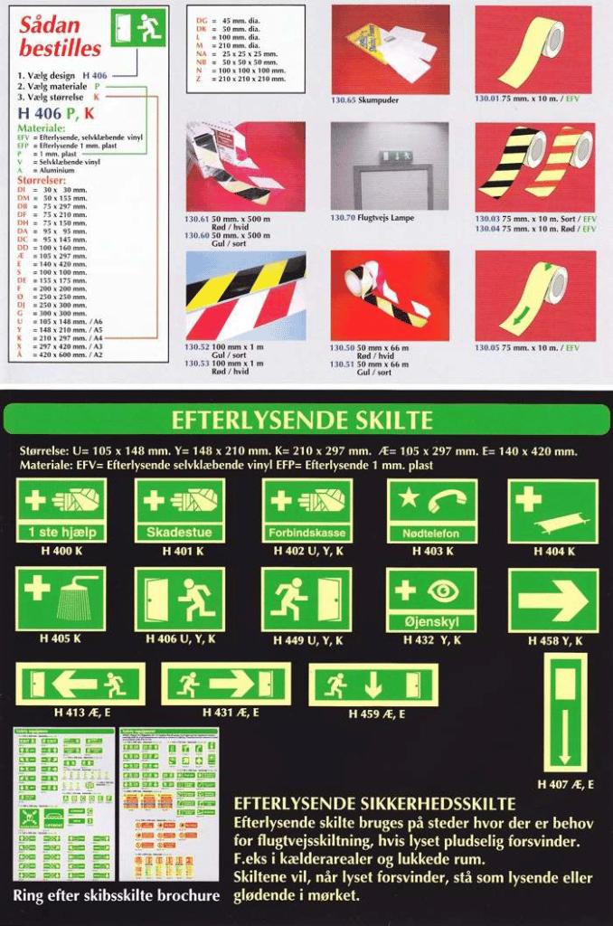 Sikkerhedsskilte - Efterlysende skilte