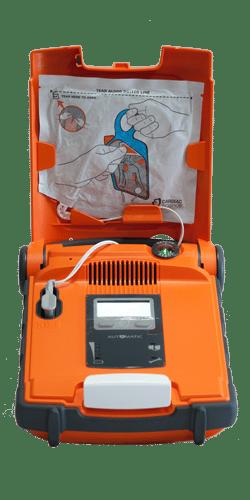 Åben AED G5 hjertestarter mellem