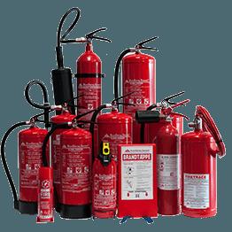 Samling af ildslukkere Brandsikring